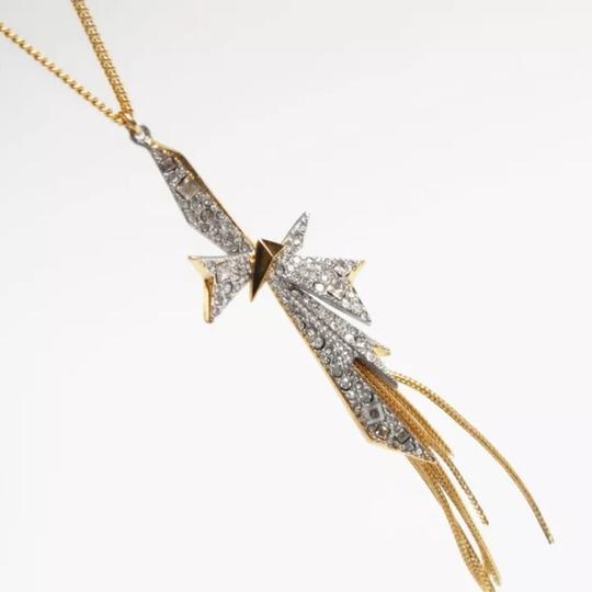 Alexis Bittar Origami Bow Long Pendant Necklace