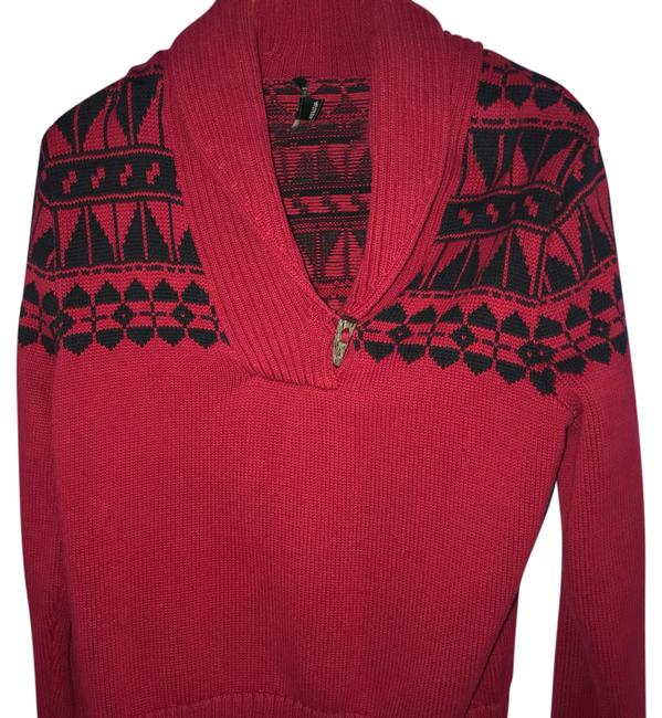 Preload https://item1.tradesy.com/images/polo-ralph-lauren-red-black-redblack-knitted-sweaterpullover-size-8-m-21987645-0-1.jpg?width=400&height=650
