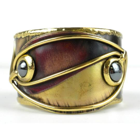 Brass Images Continuity Hematite, Copper and Brass Cuff