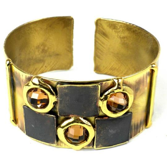Brass Images Handcrafted Showplace Topaz Cuff