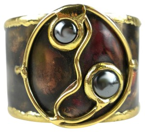 Brass Images Morpho Hematite and Brass Cuff