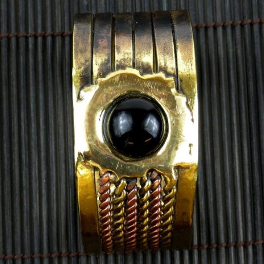 Brass Images Onyx Ethnic Cuff