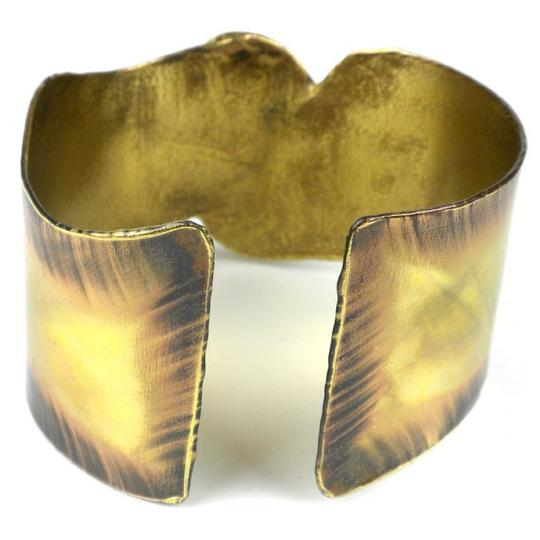 Brass Images Onyx on Wing Brass Bangle