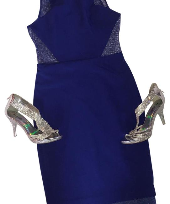 Blue Mid-length Night Out Dress Size 6 (S) Blue Mid-length Night Out Dress Size 6 (S) Image 1