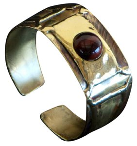 Brass Images Red Tiger Eye Cuff
