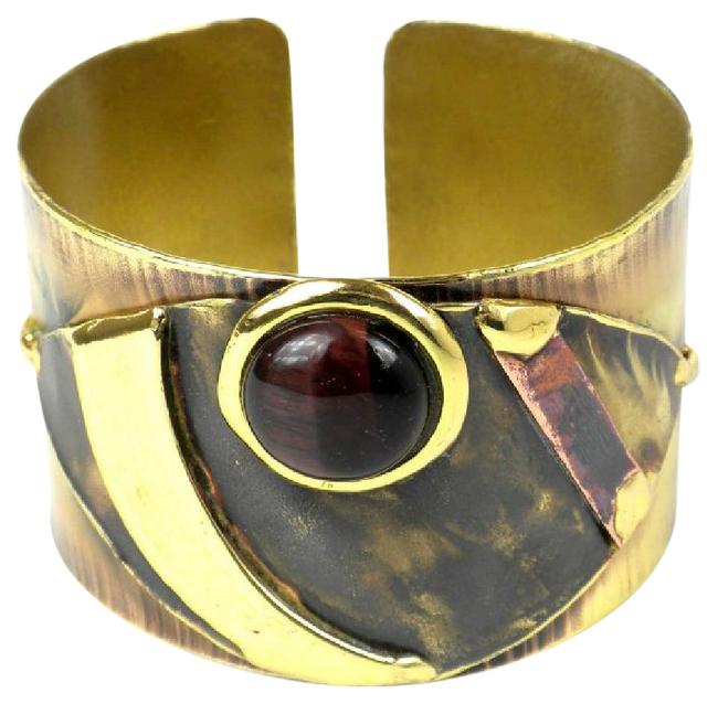 Red Tiger Eye Reflections Copper and Cuff Bracelet Red Tiger Eye Reflections Copper and Cuff Bracelet Image 1