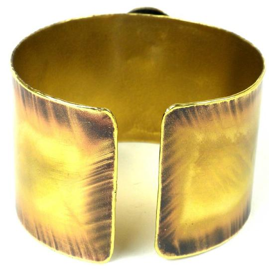 Brass Images Red Tiger Eye Reflections Copper and Brass Cuff