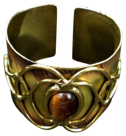 Preload https://img-static.tradesy.com/item/21987828/tigers-eye-bloom-cuff-bracelet-0-1-540-540.jpg