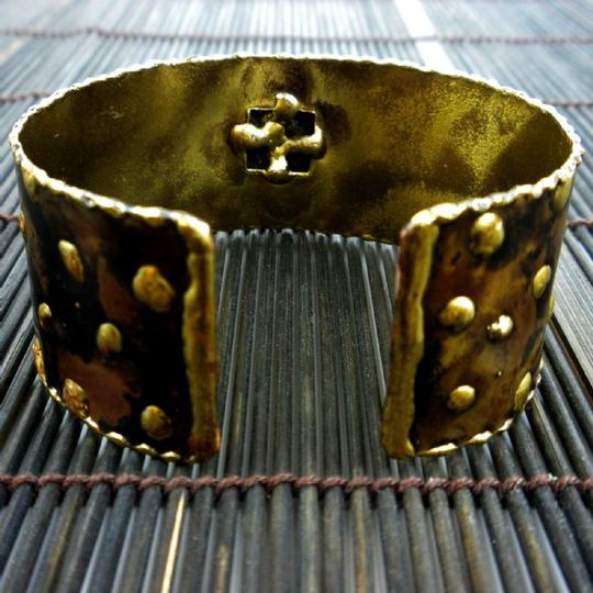 Brass Images Tigers Eye Cougar Cuff
