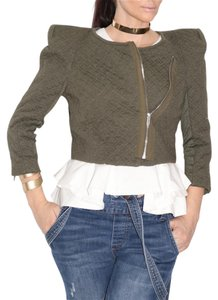BCBG Maxazria 3/4 Sleeves Olive Green Jacket - item med img