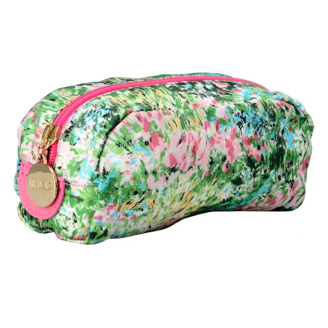 RED Valentino Women's Floral Print Cosmetic Multi-color Canvas Clutch Image 1