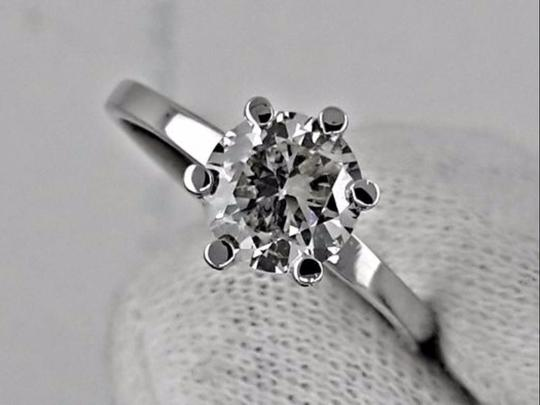 14k White Gold 1.02 Ct Round Diamond Made Of 14 Kt Engagement Ring