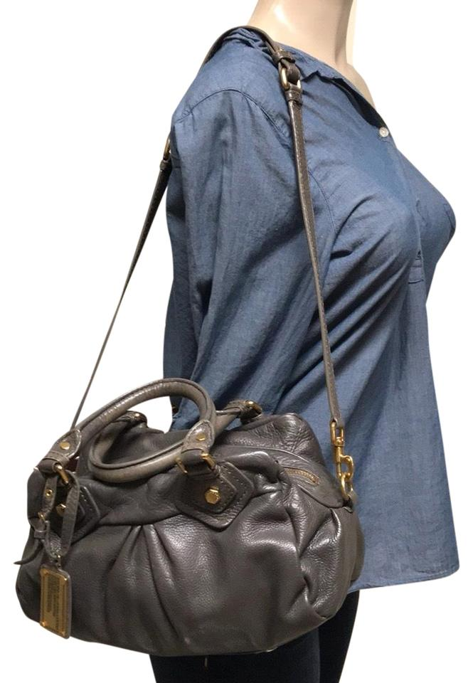 4ea275e0265 Marc by Marc Jacobs Two Ways Purse Gray/Nude Leather Shoulder Bag ...