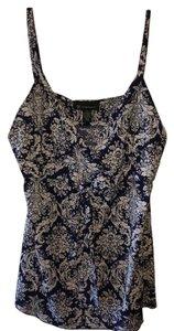 INC International Concepts Design Bling Bead Top Navy