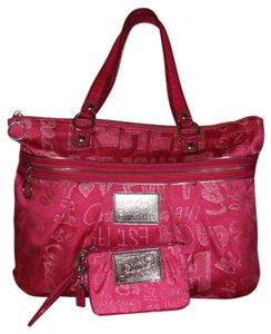 Coach Poppy Storypatch Glam 15301 44070 Tote in Pink