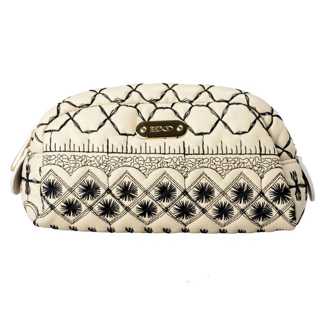 RED Valentino Women's Embroidered Cosmetic Multi-color Leather Clutch RED Valentino Women's Embroidered Cosmetic Multi-color Leather Clutch Image 1