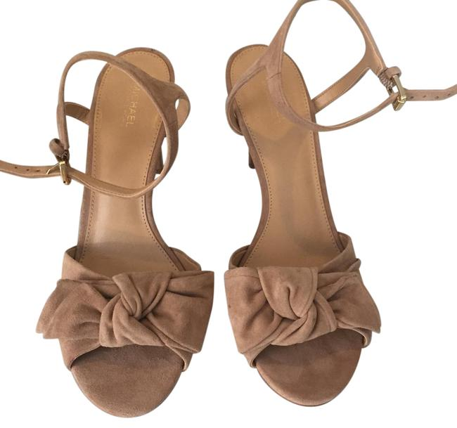 Michael Kors Beige Willa Suede Sandals Size US 9 Regular (M, B) Michael Kors Beige Willa Suede Sandals Size US 9 Regular (M, B) Image 1