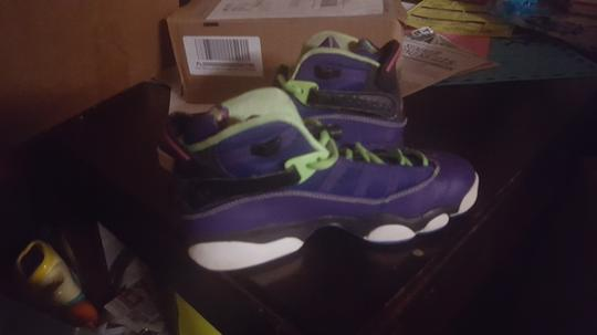 Air Jordan Size 5 Sneakers Limited Edition Purple Green Athletic