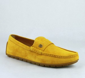 Gucci Yellow W Suede Leather Loafer W/Interlocking G 8g / Us 8.5 386587 7008 Shoes