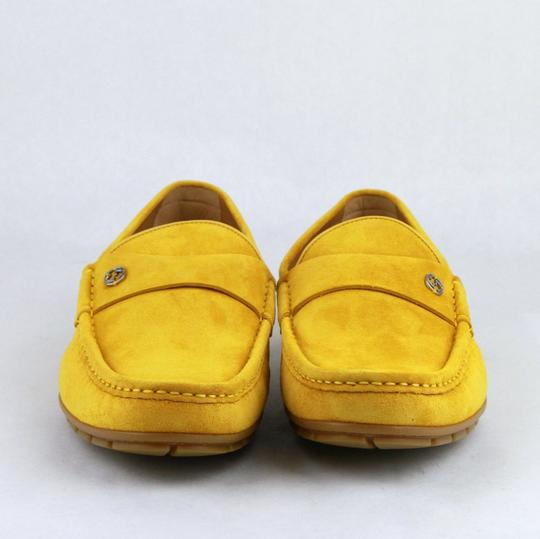 Gucci Yellow W Suede Leather Loafer W/Interlocking G 8g / Us 8.5 386587 7008 Shoes Image 2