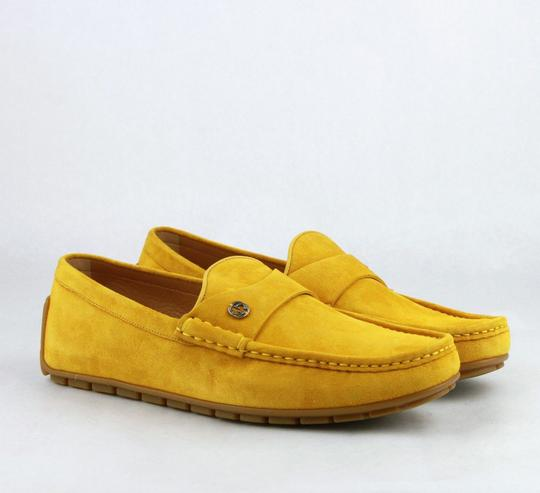 Gucci Yellow W Suede Leather Loafer W/Interlocking G 8g / Us 8.5 386587 7008 Shoes Image 3
