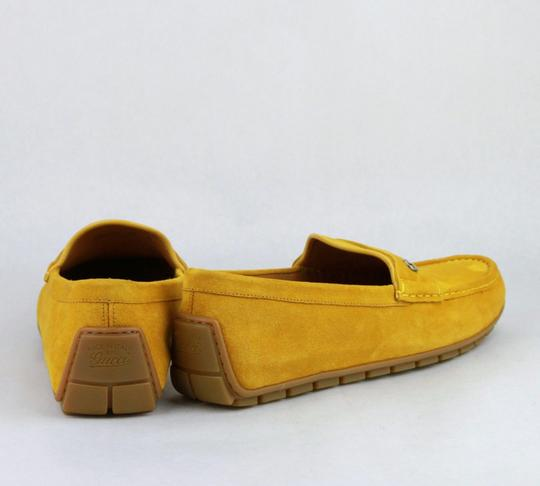 Gucci Yellow W Suede Leather Loafer W/Interlocking G 8g / Us 8.5 386587 7008 Shoes Image 4