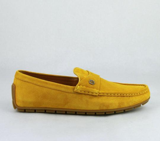 Gucci Yellow W Suede Leather Loafer W/Interlocking G 8g / Us 8.5 386587 7008 Shoes Image 6