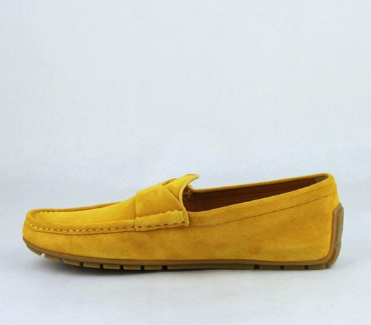 Gucci Yellow W Suede Leather Loafer W/Interlocking G 8g / Us 8.5 386587 7008 Shoes Image 7