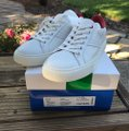 Tory Burch Leather Sneaker White Red/ Chevron Color Block Athletic Image 2