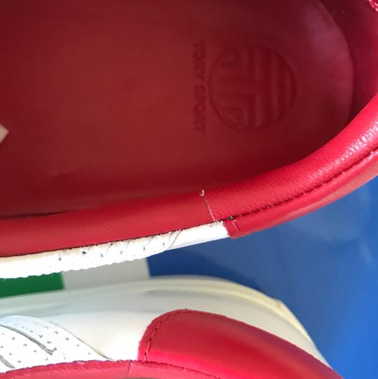 Tory Burch Leather Sneaker White Red/ Chevron Color Block Athletic