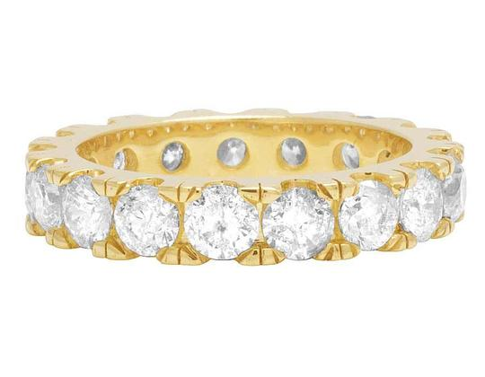Jewelry Unlimited 10K Yellow Gold Diamond Solitaire Eternity Wedding Band Ring 6 CT 5MM