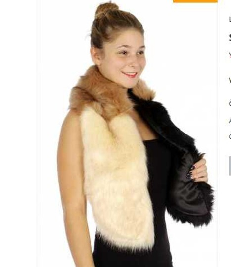 Other Color block faux fur Scarf