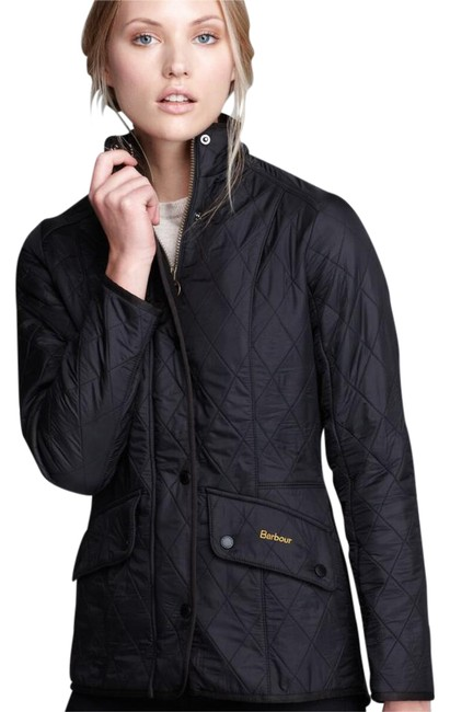Item - Black Cavalry Quilted Jacket Coat Size 6 (S)