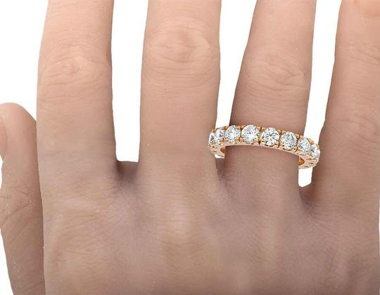 Jewelry Unlimited 10K Rose Gold Diamond Solitaire Eternity Wedding Band Ring 4.95 CT 4MM Image 4