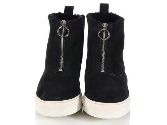 Céline New High Tops Shearling Ce.k1208.06 Black Boots Image 1