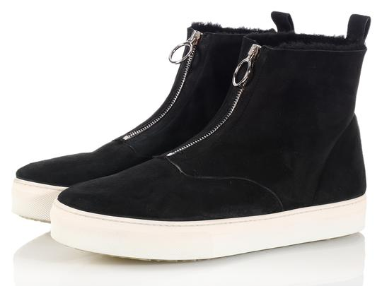 Céline New High Tops Shearling Ce.k1208.06 Black Boots Image 2