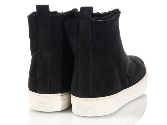 Céline New High Tops Shearling Ce.k1208.06 Black Boots Image 3
