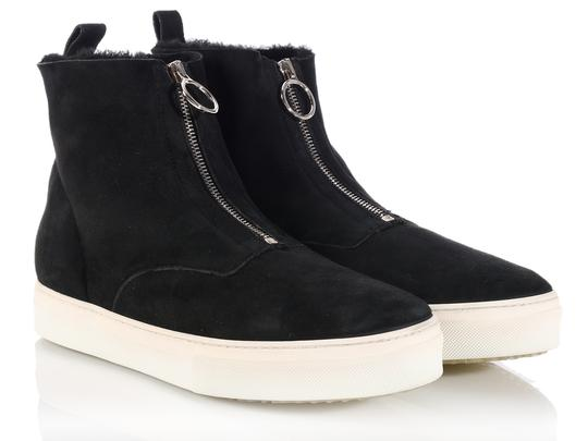 Céline New High Tops Shearling Ce.k1208.06 Black Boots Image 4