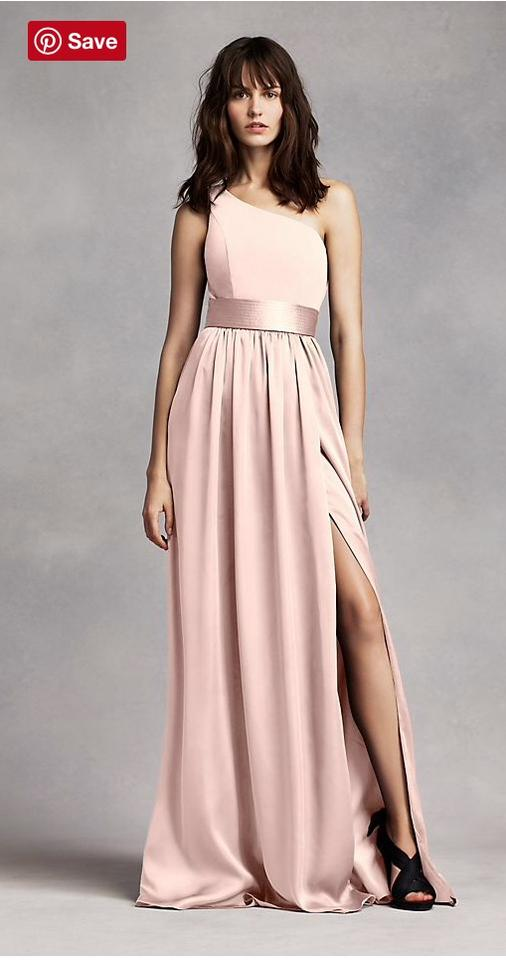 Vera Wang Blush Silk Vw360 Formal Bridesmaid Mob Dress Size 8 M