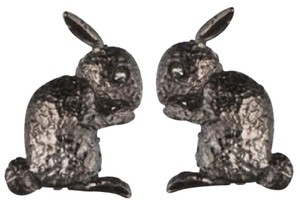 Alexis Bittar bunny rabbit studs with Swarovski crystal eye