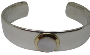 Tiffany & Co. Mother of Pearl Cuff in 18K Yellow Gold & Sterling Silver