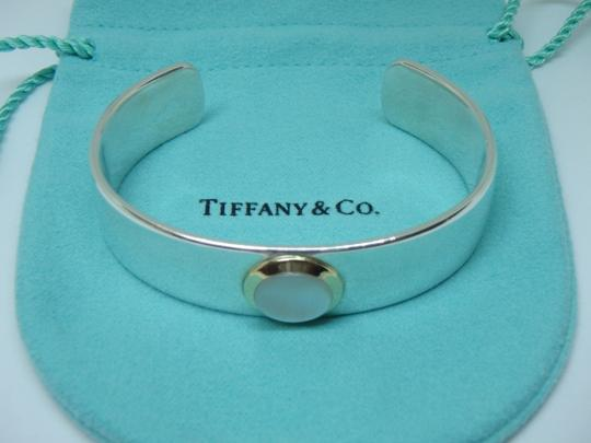 Tiffany & Co. Mother of Pearl Cuff in 18K Yellow Gold & Sterling Silver Image 1