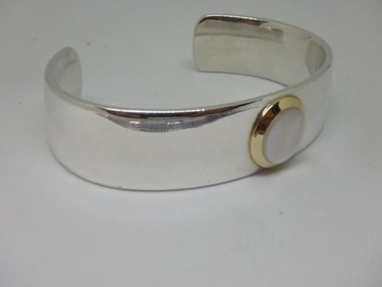 Tiffany & Co. Mother of Pearl Cuff in 18K Yellow Gold & Sterling Silver Image 4
