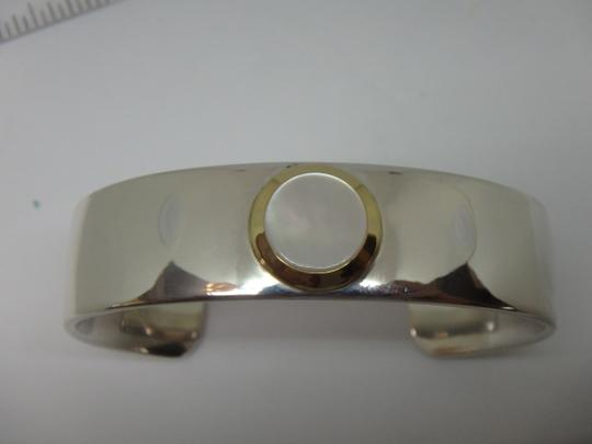 Tiffany & Co. Mother of Pearl Cuff in 18K Yellow Gold & Sterling Silver Image 9