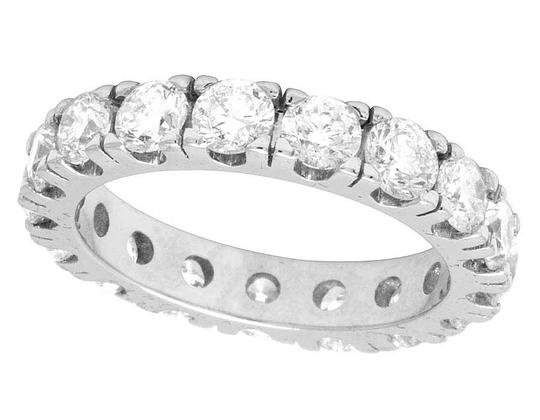 Jewelry Unlimited 10K White Gold Diamond Solitaire Eternity Wedding Band Ring 4.95 CT Image 1