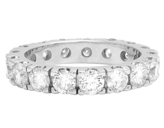 Jewelry Unlimited 10K White Gold Diamond Solitaire Eternity Wedding Band Ring 4.95 CT Image 3