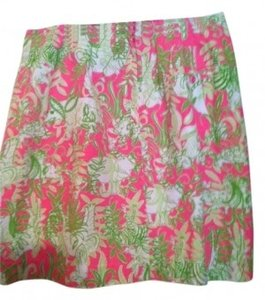 Lilly Pulitzer Skirt White, Pink, Green