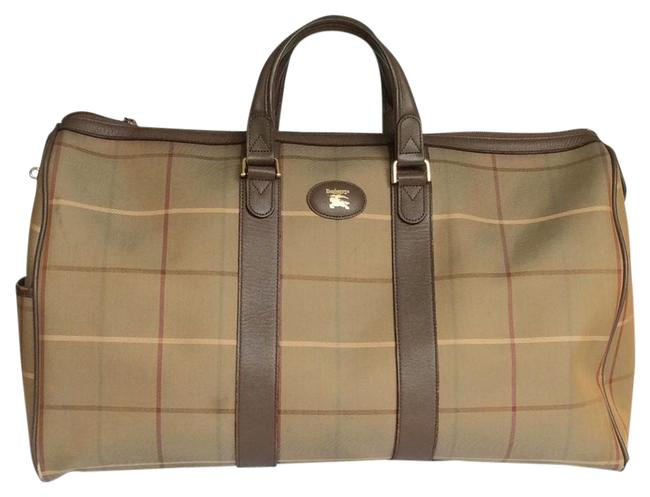 Item - Boston Reserve For Wilbert Biege/Olive/Gray/Brown Canvas Weekend/Travel Bag