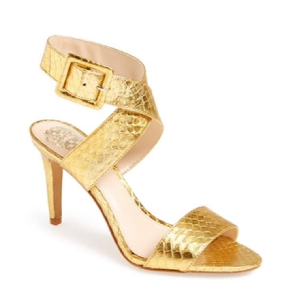 Vince Camuto Casara Gold Sandals On Tradesy