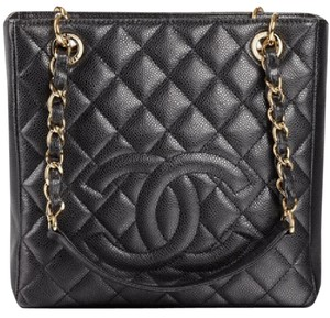 Chanel Petite Shopping Pst Tote in Black